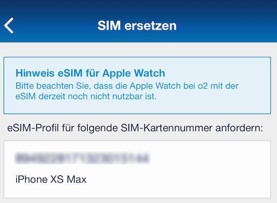 Blau Sim Kartennummer.Esim Von O2 Im Apple Iphone Xs Max Im Test 6 22 Teltarif De News