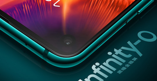 Infinity-O-Display-Technologie beim Samsung Galaxy A8s.