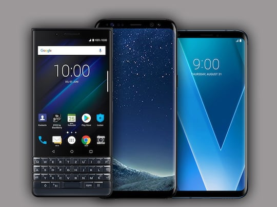 BlackBerry Key2LE, Samsung Galaxy S8, LG V30