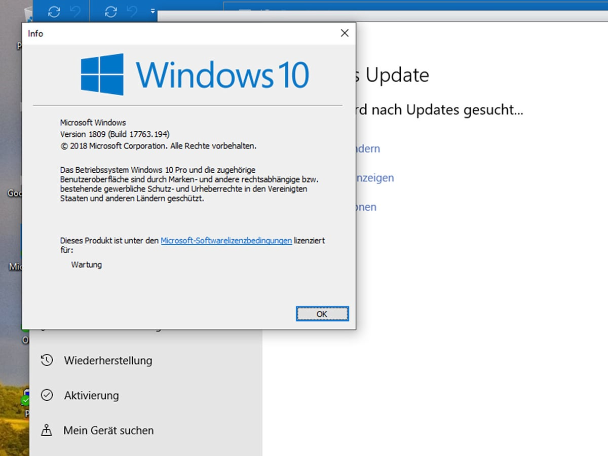 windows funktionsupdate