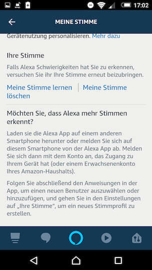 Screenshot Alexa App