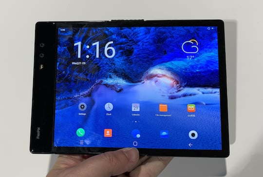 7,8-Zoll-Display im Tablet-Modus