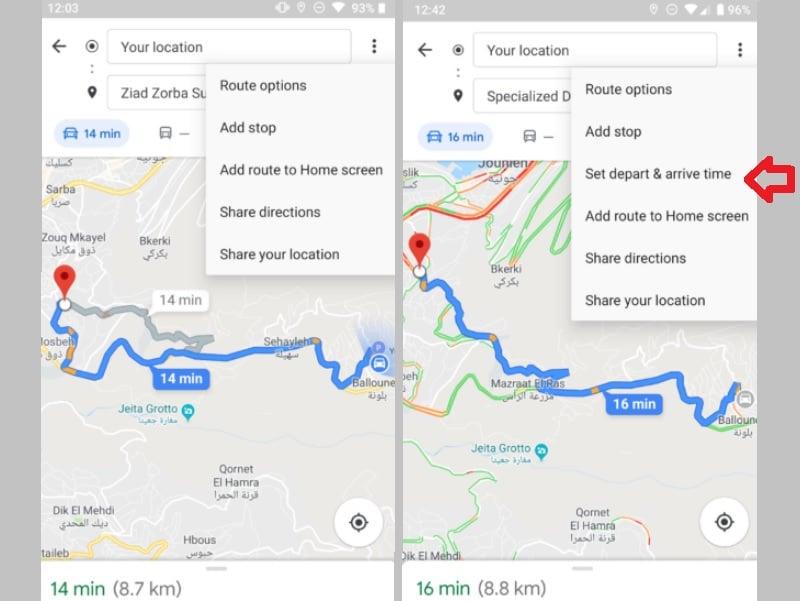 Google Maps: Abfahrts- und Ankunftszeit jetzt planbar - teltarif.de on