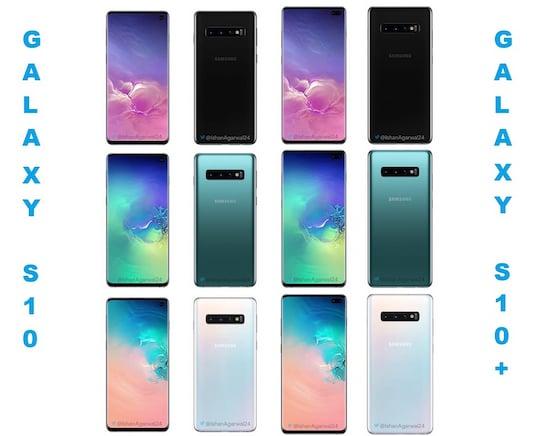 Samsung S10 Farben