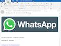 Die email sieht auf den ersten Blick nach WhatsApp aus, der Absender ist aber ein anderer und sie ist eine Fälschung.