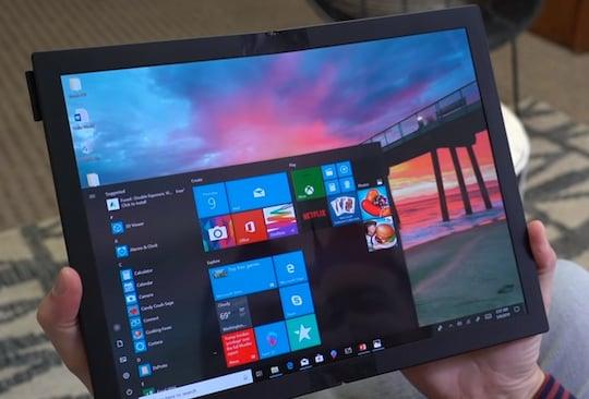 Das ThinkPad X1 (Foldable) im Tablet-Modus
