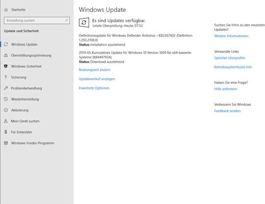 Zeit einplanen: Windows 10 Version 1903 ausprobiert - teltarif de News