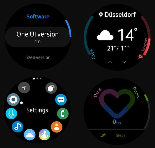 Das neue Smartwatch-Design One UI (Tizen)