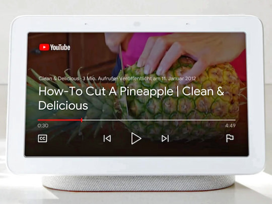 Die YouTube-App in Action auf dem Google Nest Hub