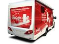 Vodafone und der Camping-Hersteller Knaus sind auf Promotiontour für den GigaCube-Router. 2500 Campingplätze sollen bereits versorgt sein.