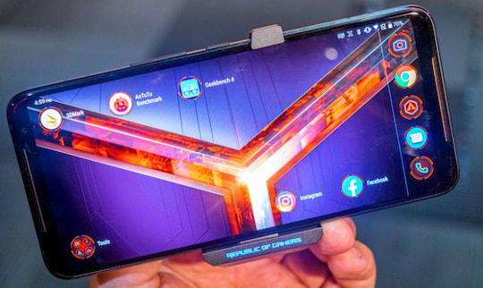 Das AMOLED-Display mit 120 Hz