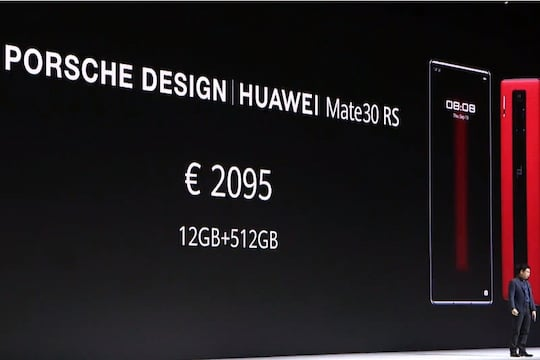 UVP des Huawei Mate 30 RS