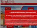 """Auf der Startseite www.turkei-sim.de (mit """"u"""") wird die Aktion beworben."""