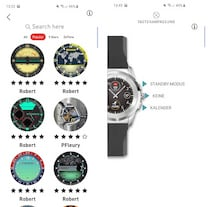 Watch Face Store und Tastenbelegung