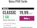 LTE-Tarif-Portfolio von Fyve