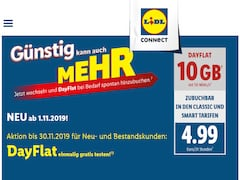 DayFlat-Aktion bei Lidl Connect
