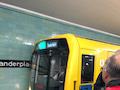 """Für die Journalisten wurde ein U-Bahn-Sonderzug """"eingetaktet"""", um die Netzversorgung auf der U-Bahn-Linie 8 testen zu können."""