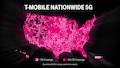 Nationwide (landesweit) soll die 5G-Versorgung von T-Mobile auf 600 MHz in den USA sein. In der Praxis dürfte es noch einige Funklöcher geben.
