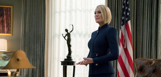 "Robin Wright als US-Präsidentin Claire Underwood in ""House of Cards"""