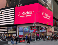 Filiale von T-Mobile (US) am Times-Square in New York.