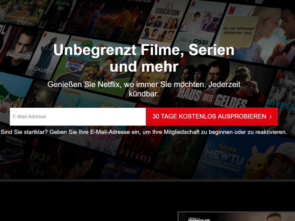 Gratismonat Netflix