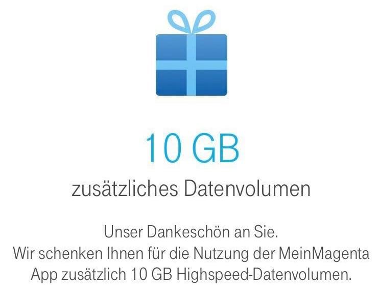 Telekom 10 Gb Frei