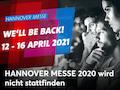Die Hannover Messe wird auf 2021 verschoben