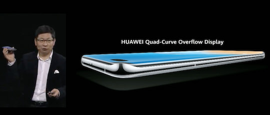 Das Quad-Curve Overflow Display des P40 Pro (+)