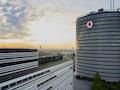 Das Hauptquartier von Vodafone Deutschland in Düsseldorf hat zum guten Ergebnis der Vodafone plc (weltweit) beigetragen