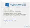 """Wenn das neueste (reguläre) Windows 10 und alle Updates installiert, sollte die Build-Nummer bei 19041.329 liegen. (Abfrage mit """"winver"""")"""