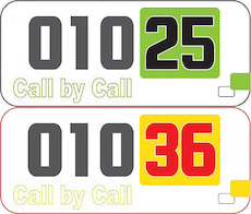Two new call-by-call area codes started