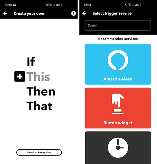 Smart home routines via IFTTT
