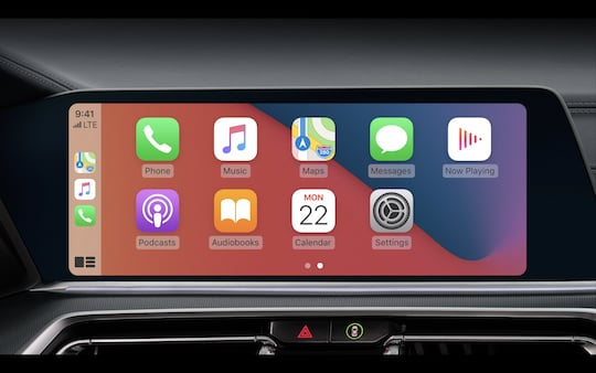 The new appearance of Carplay