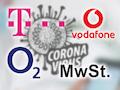 Zur Belebung der Wirtschaft nach/während der Corona-Krise soll die Mehrwertsteuer gesenkt werden. Telekom, Vodafone und o2 machen mit.