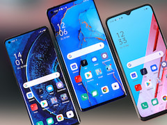Oppo Find X2 Pro (left), Neo (middle) and Lite in a smartphone comparison
