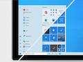 """So könnte das neue Windows 10 Startmenü aussehen. (Rechts das """"alte"""" Menü)"""
