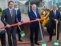 von links: Andreas Scheuer, Minister für Verkehr und digitale Infrastruktur, Reiner Haseloff, Ministerpräsident Sachsen-Anhalt und Michael Ziche Landrat Altmarkkreis Salzwedel