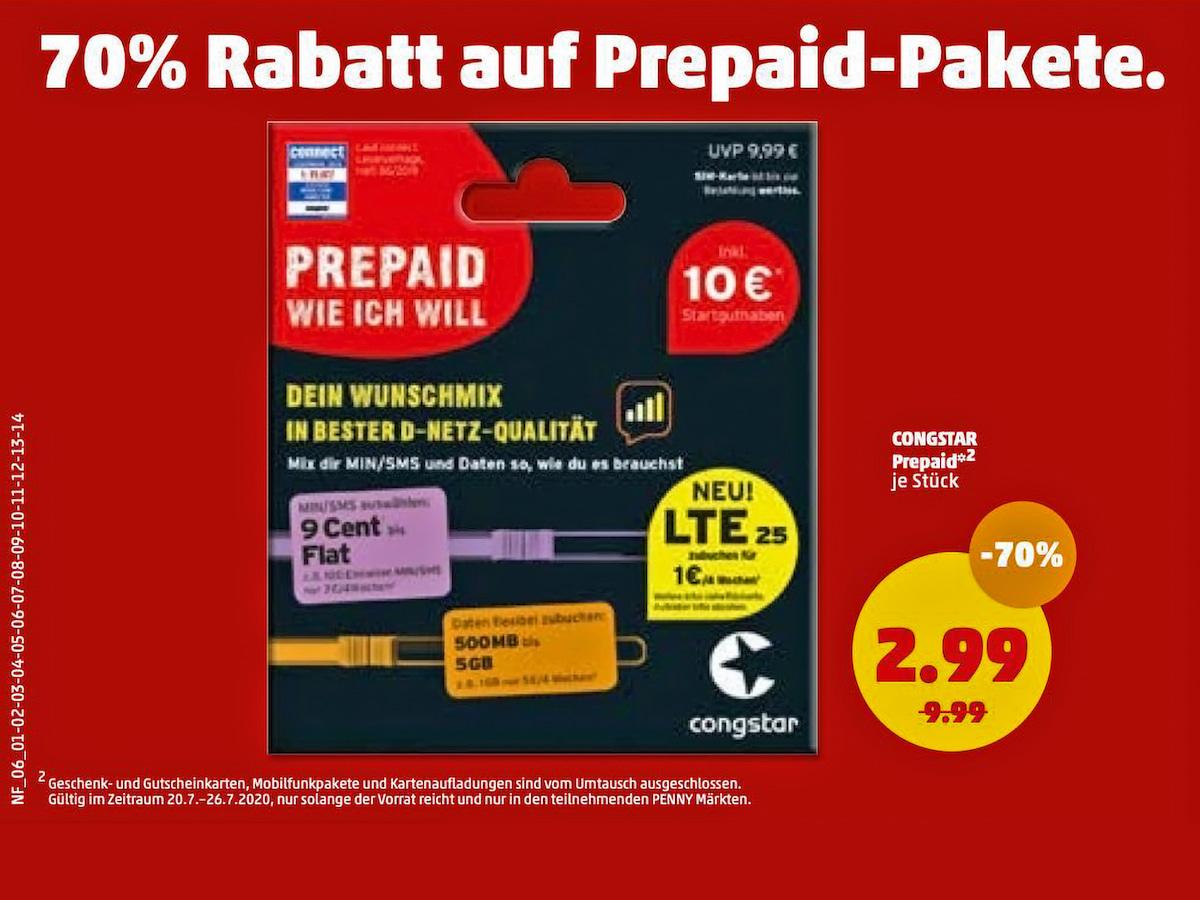 Congstar Prepaid Starterset Mit 70 Prozent Rabatt Teltarif De News