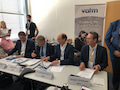 Das VATM-Präsidium - rechts Jürgen Grützner. Das Bild entstand vor Corona.