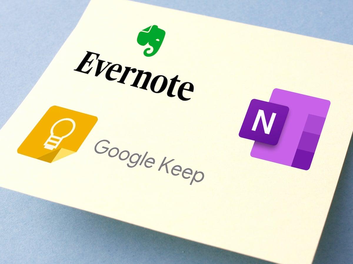 Notizen-Apps: Evernote, OneNote, Google Keep  mehr
