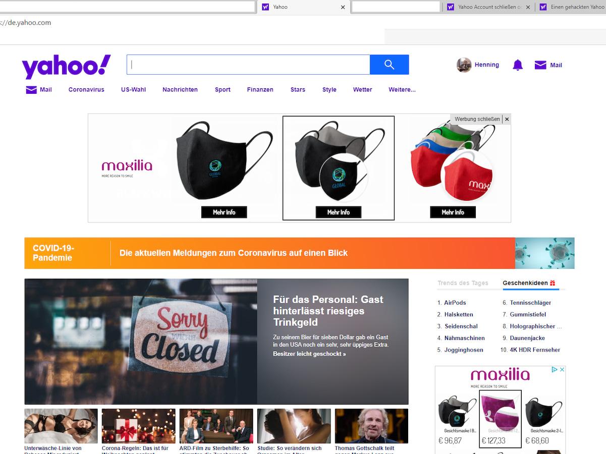 Yahoo Weiterleitung