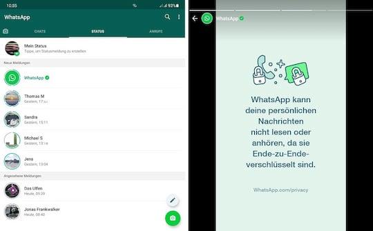 Status Meldung Whatsapp