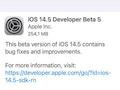 Von iOS (und iPadOS) wurde die Version 14.5 Beta 5 ausgerollt.