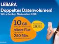 """Prepaid-Aktion """"Mehr Daten"""" bei Lebara"""