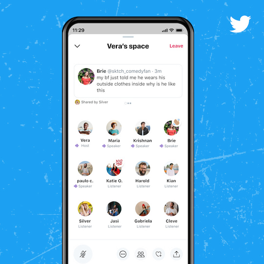 Twitter Spaces gestartet