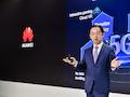 Ryan Ding, Vorstandsmitglied von Huawei stellte in Barcelona neue Technik seines Unternehmens für 5G vor