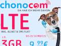 Der Mobilfunkanbieter chonocom hat neue LTE-Tarife, z.B. mit 3GB, im Angebot