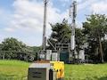 o2 hat die Stromversorgung eines Funkmasten durch Einsatz eines mobilen Stromaggregates gewährleistet.