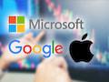 Apple, Google und Microsoft fuhren im vergangenen Quartal zusammen Gewinne von fast 57Milliarden Dollar ein
