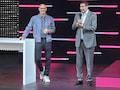 Telekom-Chef Tim Höttges (l.) ist 1,93Meter groß, sein Partner Marcelo Claure von SoftBank (r.) kommt auf 1,98Meter